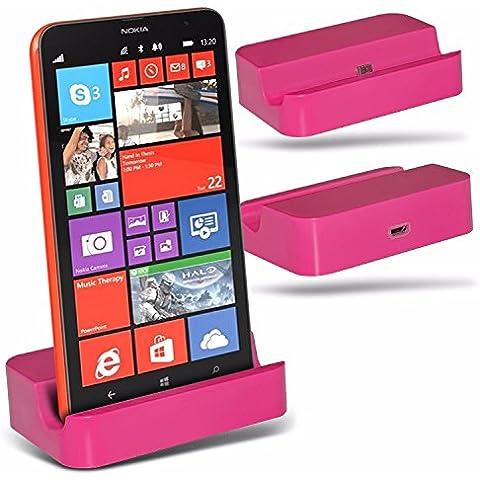 Blackview 5000 - Micro USB Desktop Dock di ricarica Monte stand - Hot Pink