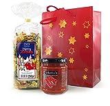 Pasta-Geschenkset Weihnachtsnudeln mit Tomatensalsa