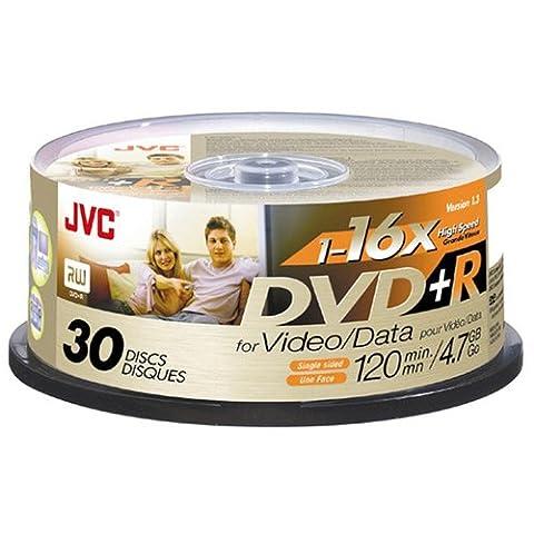 JVC 16x DVD+R Media - 4.7GB - 30 Pack