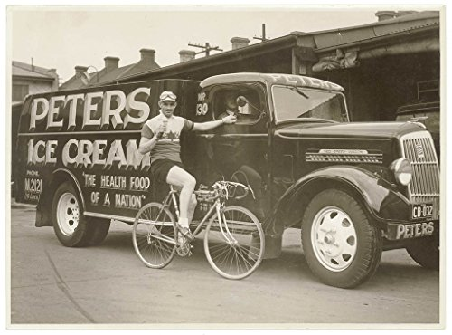 poster-hubert-opperman-eating-ice-cream-next-peters-ice-cream-reo-truck-1936-sam-hood-format-photogr