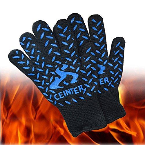 ceniter resistente al calore fino a 500 °C Guanti da barbecue. Premium aramide tessuto & Silicone Guanti ideale per forno, Grigliare, cucinare, forno, Camino.