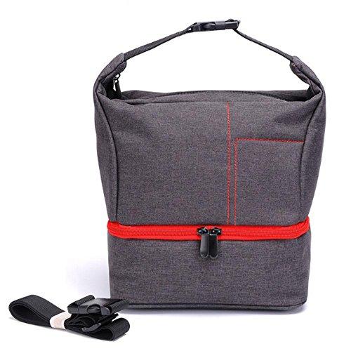 Pawaca Kamera-Rucksack, wasserdicht, stoßfest, für Canon, Nikon, Sony, rot
