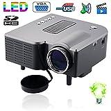Mini vidéoprojecteur LED 95W 50 Lumens Full HD 1080p Noir