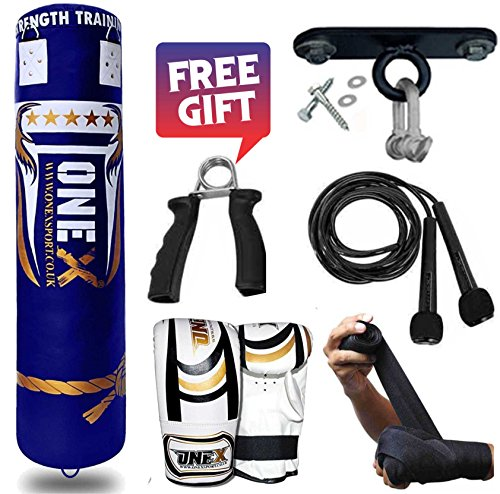 new-13-peices-5ft-heavy-filled-punch-bag-buyer-build-set-in-various-colors-chain-bracket-bag-mitts-m