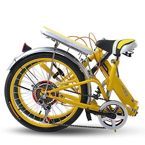 51ORAXDLuBL. SS500  - HIKING BK Tx30 Portable Travel 6 Speed Lightweight 20 Inch Bright Single-Speed Folding Bike Foldable Bicycle Shock…
