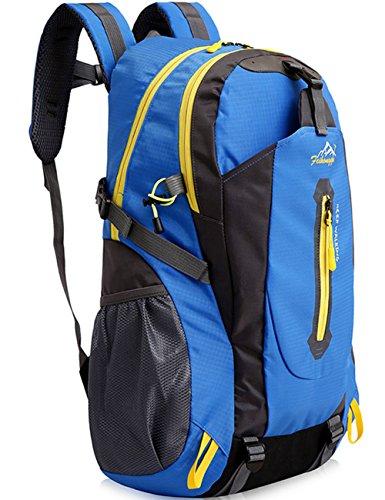 Aidonger Vintage 40L Wandern Rucksack Reise Daypack Trekkingrucksack Blau