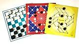 Spieltz 52115: Reisespielesammlung: Reisespiele Set für 2 Spieler - Dame, Sonnen-Mühle, Tonkin