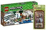 LEGO Minecraft 21142–Ghiaccio Igloo + LEGO minecrafttm Mini Figure Set di 2