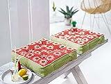 Pureday Sitzkissen Tunis - Bezug aus 100% Baumwolle - Terracotta Grün - ca. 40 x 40 cm