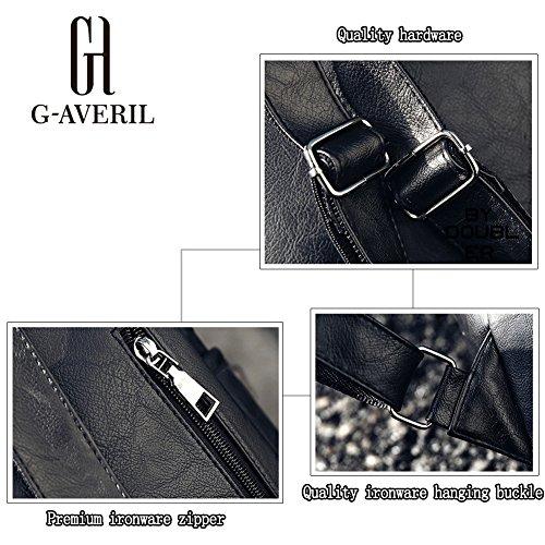 G-AVERIL GA1039-G, Borsa a zainetto donna grigio Grey Wine red