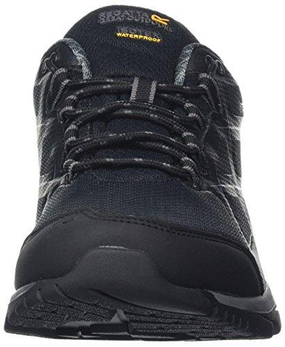 Regatta Kota Low, Chaussures de Randonnée Basses Homme Noir (Black/granit)
