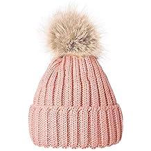 529f2614b9055 Amazon.es  gorros de lana con pompon - Rosa