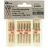 15 Nähmaschinennadeln Universal Nr. 100 Flachkolben 130/705H für Nähmaschine, Maschinen Nadeln, E90099