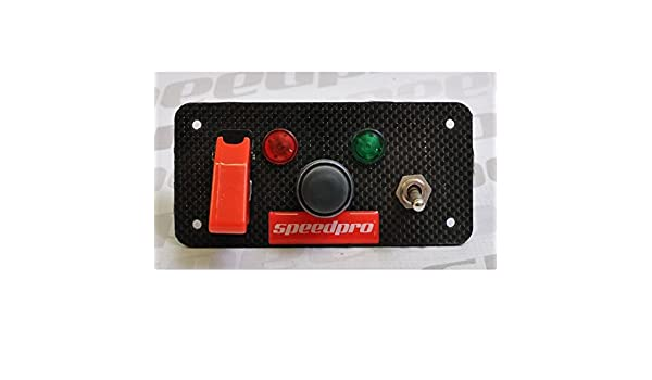 /Speedpro centres Push Button Start Starter commutateur Panneau de carbone 12/V/ /25/A suivre//Rally//voiture//bateau/