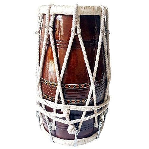 Handgemachtes hölzernes Dholak indisches folkisches Musikinstrument gebunden durch Seil, Bulk/Wholesale also Available at Discount Price