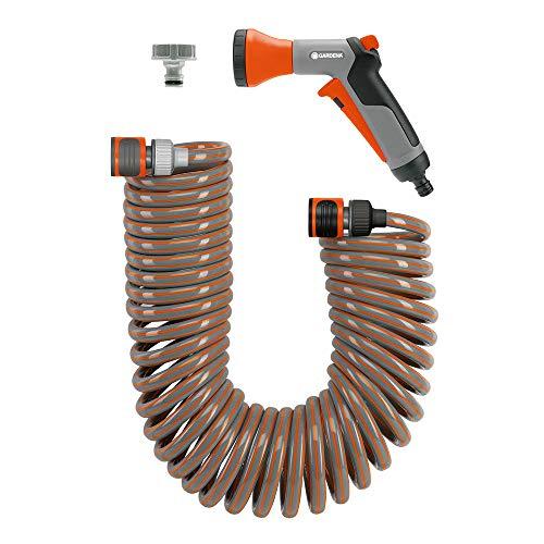 Gardena Winkelhahnstück: Winkelanschluss für 26.5 mm (G3/4 Zoll)-Wasserhahn mit 33.3 mm (G1 Zoll)-Gewinde, 21 mm (G1/2 Zoll)-Wasserhahn und 26.5 mm (G3/4 Zoll) Gewinde, dreh- & schwenkbar (2999-20)