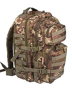 Mil-Tec Military Army Patrol MOLLE Assault Pack Tactical Combat Rucksack Backpack Bag 50L Vegetato Woodland