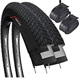 'Fincci Set Pair 20 X 1.75 Inch 47-406 Tyres With Schrader Inner Tubes For Bmx Or Kids Childs Bike Bicycle (pack Of 2)