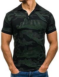 BOLF – T-shirt Polo à manches courtes avec impression Slim fit Party Motif Homme [3C3]
