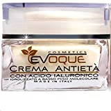 Crema Viso Antirughe Evoque Cosmetics Idratante Bio Con Acido Ialuronico Puro Giorno e Notte , 50 ml