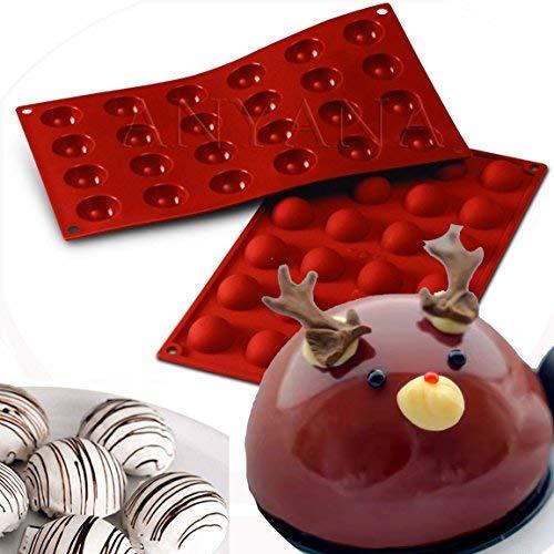 Bar Soap Tray Form (anyana 215Hohlraum, Semi Sphere Hälfte rund Dome Silikon Form Schokolade TeaCake Backblech Backform Seife Bomben Lotion Bars height: 9cm/5cm, 70grams 2pcs 24 Cavity Semi Sphere)
