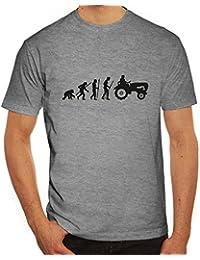 Lustiges Herren T-Shirt Evolution Traktor
