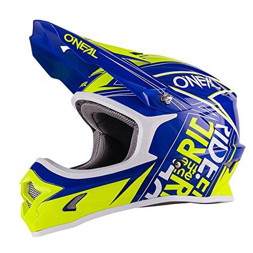 O'Neal 3Series Fuel Kinder MX Helm Blau Neon Gelb Hi-Viz Youth Motocross Enduro Quad Cross, 0623-51, Größe Medium (49-50 cm)