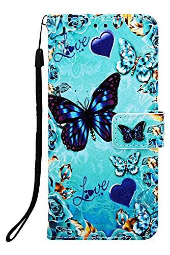 Wiitop Schutzhülle für Samsung Galaxy S10 Plus Lite, PU-Leder, Brieftaschen-Design, mit Kreditkartenschlitz, Handgelenkschlaufe, Magnetverschluss, Ständerzubehör, Galaxy S10+/S10 Plus 6.4