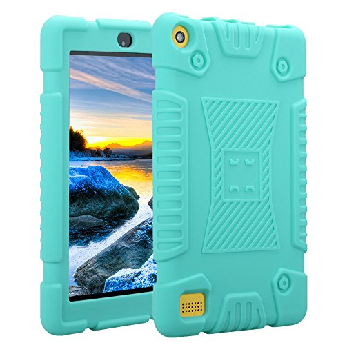 (7 Zoll) 2017 Hülle, NOKEA [leicht stoßfest] Weiches Silikon Durable Soft Rubber Rugged Cover Case für Amazon Fire 7 2017 (7. Generation 2017 Release) ()