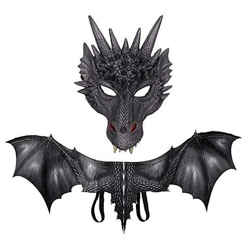 Machen Dragon Wings Kostüm - Hamkaw Halloween Evil Dragon Kostüm, 3D