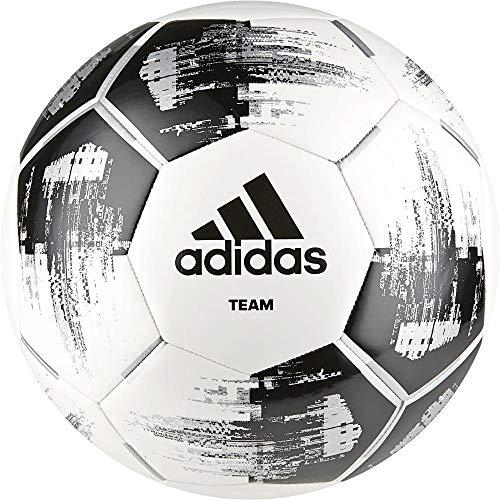 adidas Herren Team Glider Soccer Ball, White/Black/Silver met, 4
