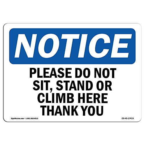 OSHA Hinweis   Heavy Duty Schild oder Label 10