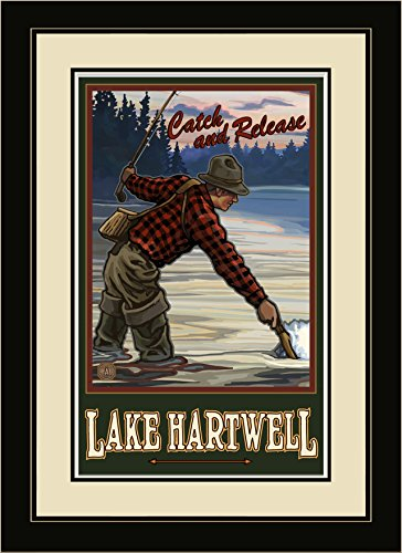 Northwest Art Mall EFF Lake Hartwell-South Carolina gerahmtes Wandbild Art, 33cm von 40,6cm