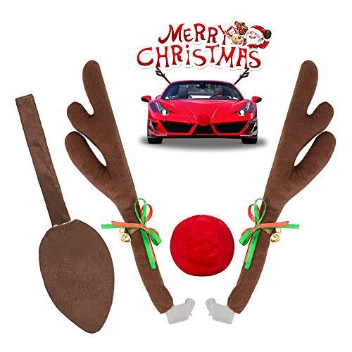 Rentier Auto Rudolf, yotame Auto Weihnachtsdeko für Auto Rentier kostüm weihnachtsdeko Rentier Kostüm Auto Rudolf für alle Fahrzeuge, PKWs, LKWs, SUVs usw