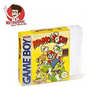 10 Klarsicht Schutzhüllen Nintendo GAME BOY CLASSIC [10 x 0,3MM GAME BOY] Spiele Originalverpackungen Passgenau Glasklar