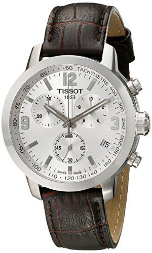 Tissot-T0554171603700-Reloj-de-pulsera-Hombre-Cuero-color-Marrn