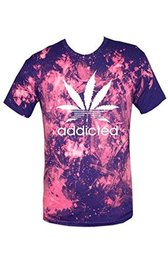 TRVPPY Batik Herren T-Shirt Shirt mit vielen verschiedenen Motiven, Gr. XS-XXL Addicted-Weiß