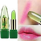 Gfone 99% Aloe Vera Lippenstift Jelly Transparente Lip Gloss Farbwechsel Temperaturänderung Lipstick Feuchtigkeitsspendende Balsam Langlebigen Lipgloss