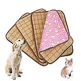 Idepet Doppio utilizzo Tappetino per il raffreddamento dell'animale domestico, Cuscino per gatti Cuscino per gatti Cuscino di raffreddamento per letto freddo Stuoia di bambù Stuoia per il ghiaccio Tappetino per dissipazione di calore per l'estate e l'inverno, M L XL XXL Rosa / Viola / Marrone / Caffè (L, Rosa)