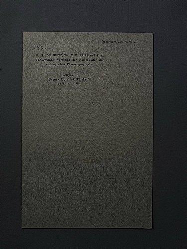 Vorschlag zur Nomenklatur der soziologischen Pflanzengeographie.