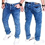 Kc-1981 Herren Röhren Jeans Skinny Hose Clubwear Freizeit Denim Biker Stretch