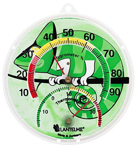 Lantelme 6137Terrario/Reptiles/terrarios combinado Termómetro y higrómetro. Thermo higrómetro analógico...