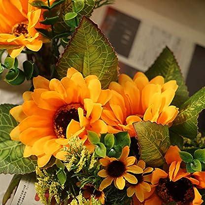 PoeticHouse-Kranz-Deko-Trkranz-Sonnenblumen-Girlande-Dekoration-Mit-Rattan-Design-Knstliche-Wandkranz-45cm-Fr-Halloween-Ostern-Weihnachten-Thanksgiving-new-release