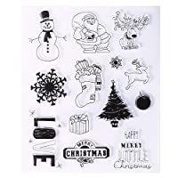 Caxmtu Silicone Rubber Clear Stamp Seal Scrapbooking Diary Christmas Card