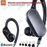 Auricolare Bluetooth Xiaomi Sports Bluetooth Xiaomi Bluetooth 4.1 con microfono Earbud Sweatproof impermeabile(nero)