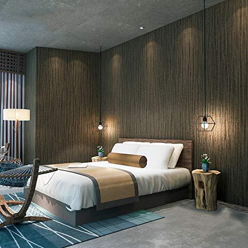 che Streifen Tapete 3D Leinen Textur dunkelgrau Vlies Tapeten Wohnzimmer Schlafzimmer Studie Hintergrund Wand Dekor , 210cm × 150cm ()