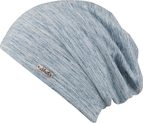 Feinzwirn - Bonnet - Femme gris washed blau taille unique Bleu