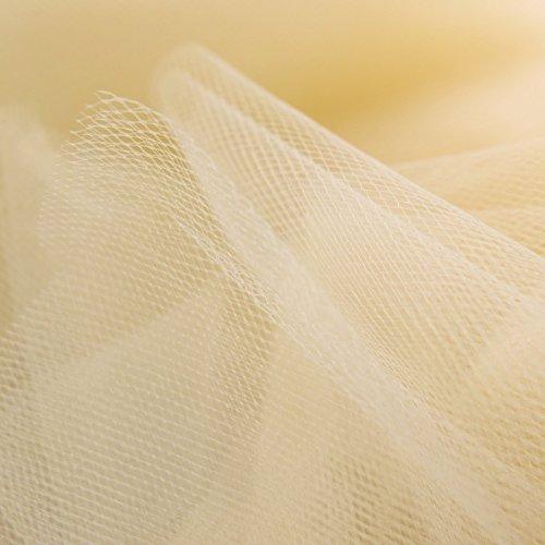 Vanilla Honig Pastell Gelb Nude feinem Tüll Stoff 300cm breit, Meterware,–Netz geeignet für Ball, Unterrock, Schleier, Plissee & Ruching