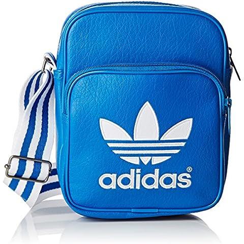 adidas Bandolera Mini Azul azul y blanco Talla:9 x 15 x 20 cm, 0.3 Liter