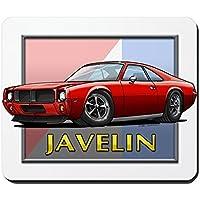CafePress–Rosso Javelin–Tappetino in gomma antiscivolo, Mouse da Gioco - Stripe Package